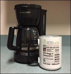 Image result for HIStalk, coffee, mug
